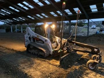 C&R Construction South West Ltd Laser guided bobcat grading